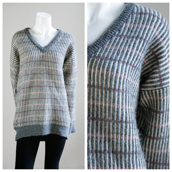 Vintage Classic Grey V Neck Pullover | Harry Rosen