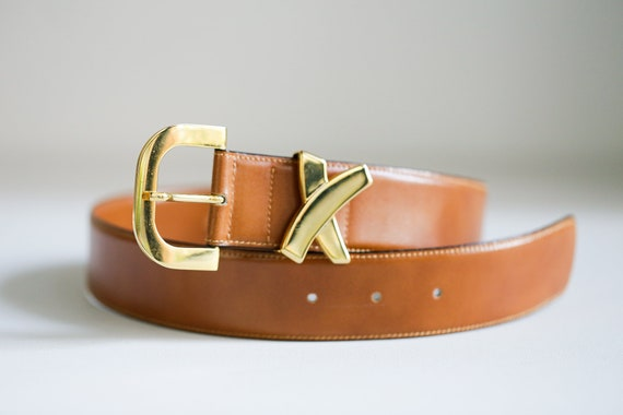 Vintage Paloma Picasso Caramel Leather Belt | Clas