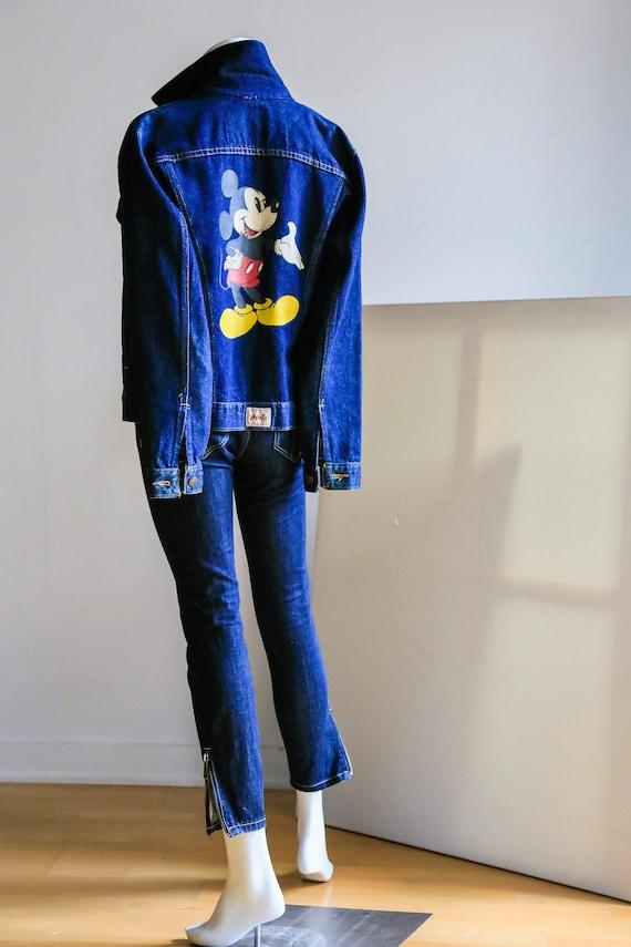 Vintage Dark Denim Mickey Mouse  Accent Jacket   M