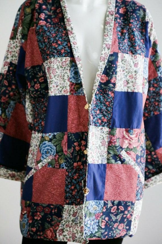 Vintage Cottagecore Patchwork Floral Oversized Re… - image 3