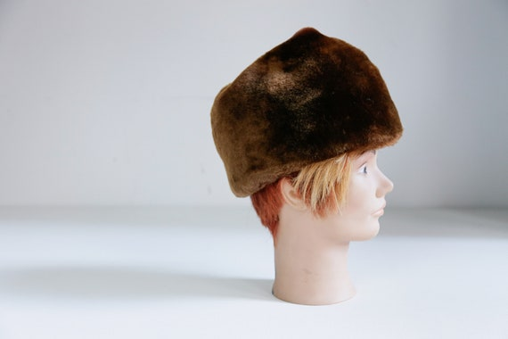 Stetson Brown Fur Military Hat | Vintage Brown Rus