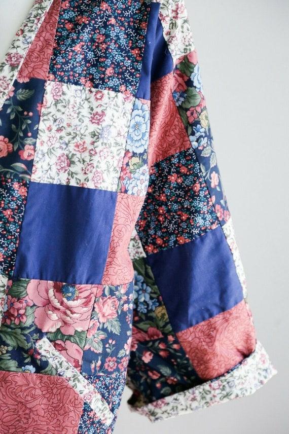 Vintage Cottagecore Patchwork Floral Oversized Re… - image 6