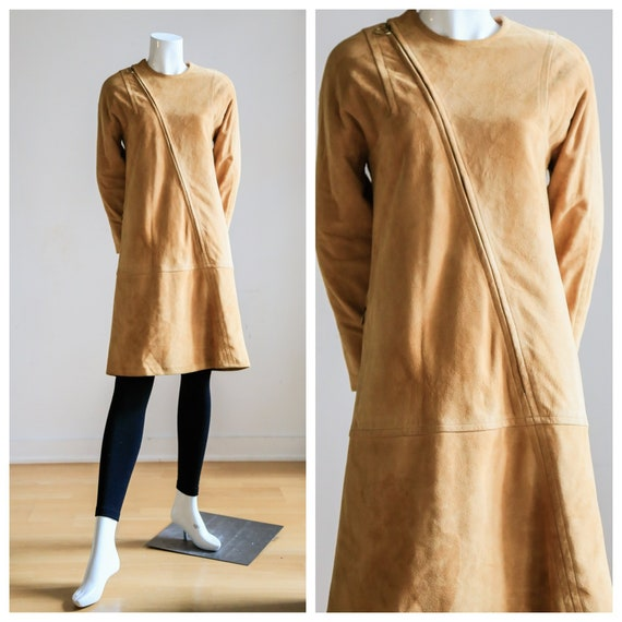 60s Camel Soft Deer Skin Tunic | Leather Tunic Dre