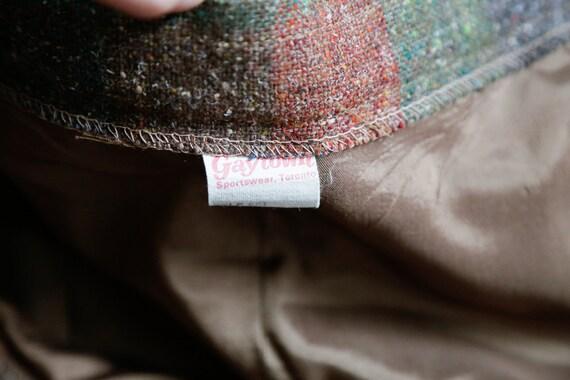 Vintage Large Scale  Plaid Wool A-line Maxi Skirt… - image 8