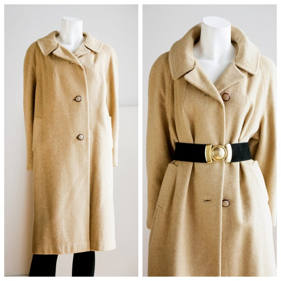 Vintage Camel Colour Wool And Camel Hair  Classic