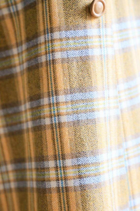 Plaid Wool A-line Maxi Wrap Skir   Plaid Boho Max… - image 7