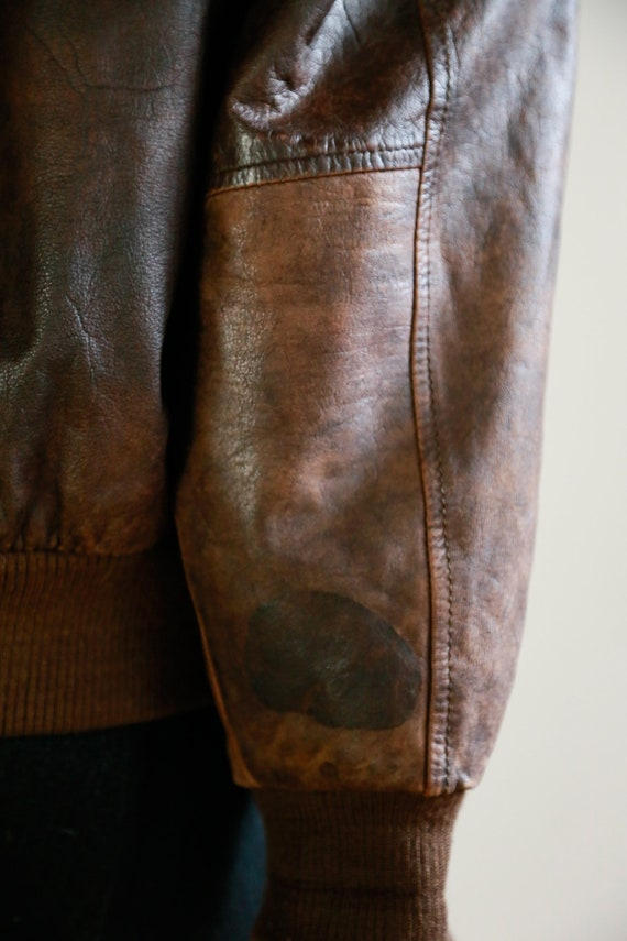 Leather Aviator Flight Jacket | Vintage Pilot Jac… - image 8