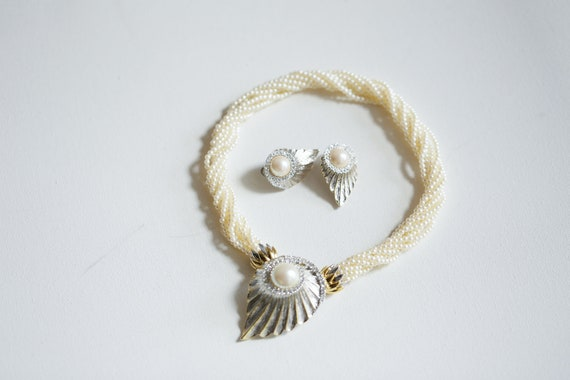 80s Butler Convertible Seed Pearl Statement Neckla