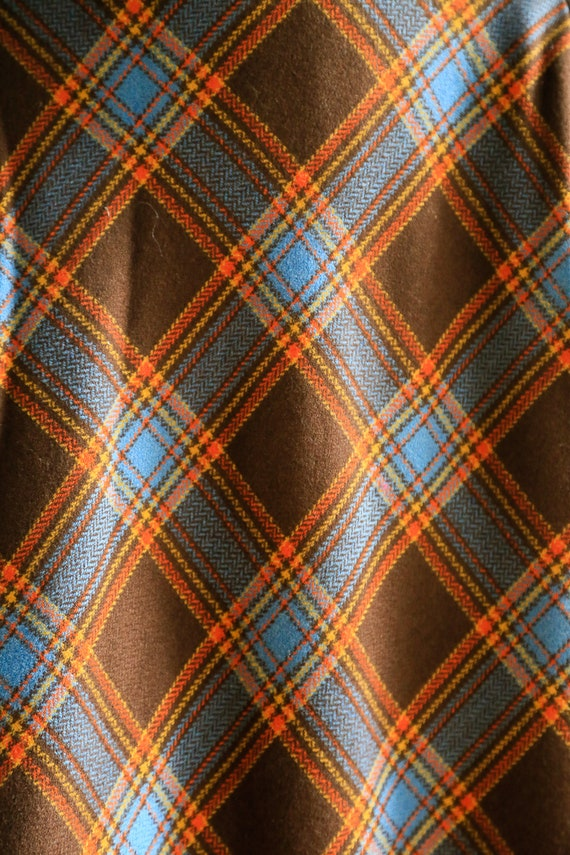 Plaid Wool A-line Maxi Skirt   Gold Plaid Skirt  … - image 6