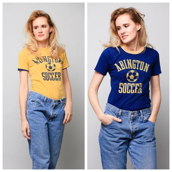 Reversible 70s Soccer Print T Shirt | Abington Soc