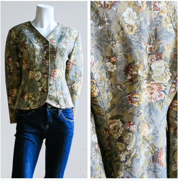 Floral Tapestry Blazer | Floral Tapestry Jacket |