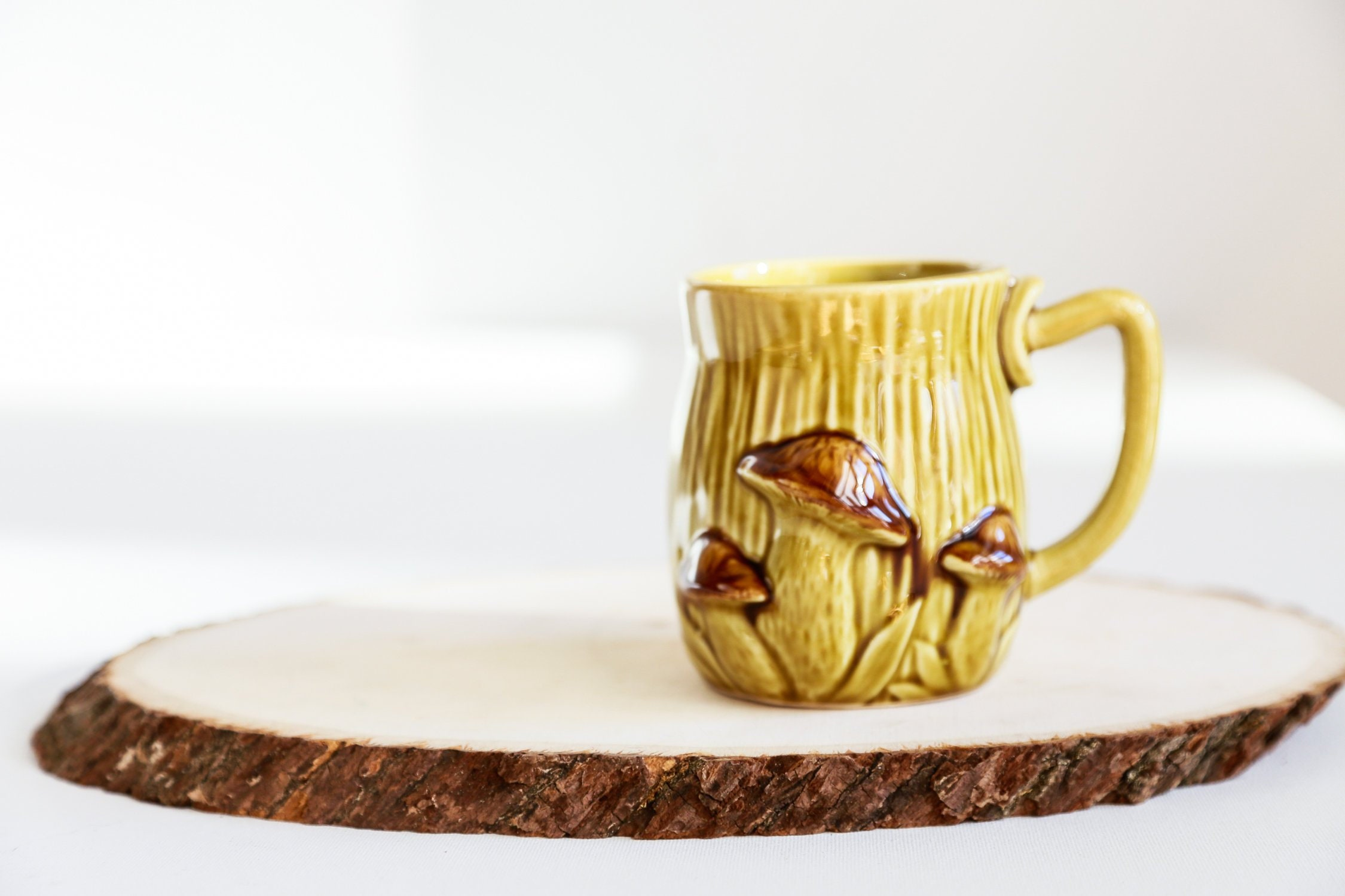 70s 3d Mushroom Theme Coffee Mug 70s Table Decor Hippie Mug Forest Theme Table Decor Farmhouse Kitchen Hand Painted Coffee Mug