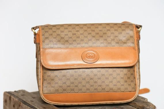 Beige monogramme cuir Gucci sac à main Monogram bandoulière   Etsy 338f12b0e5d