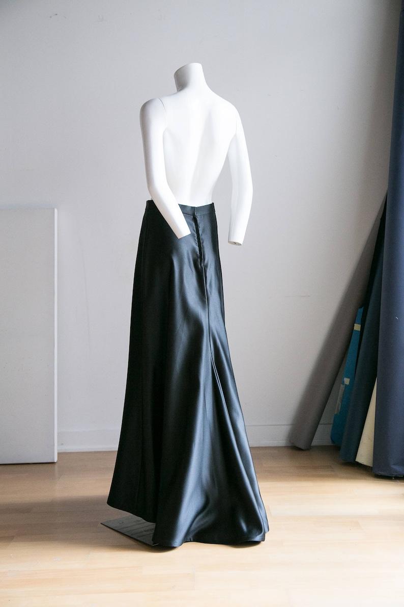 Black Maxi Ball Gown Skirt   Lixnet AG