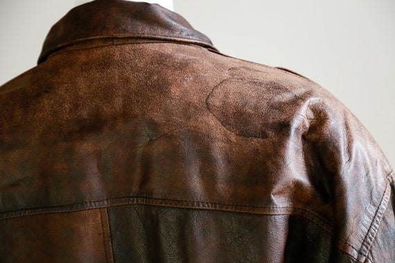 Leather Aviator Flight Jacket | Vintage Pilot Jac… - image 7