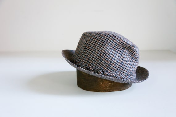 Fine  Plaid Wool Mens Fedora Hat   Made in East Ge