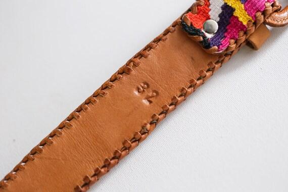 Handmade  Colourful Embroidered Boho Leather Belt… - image 9