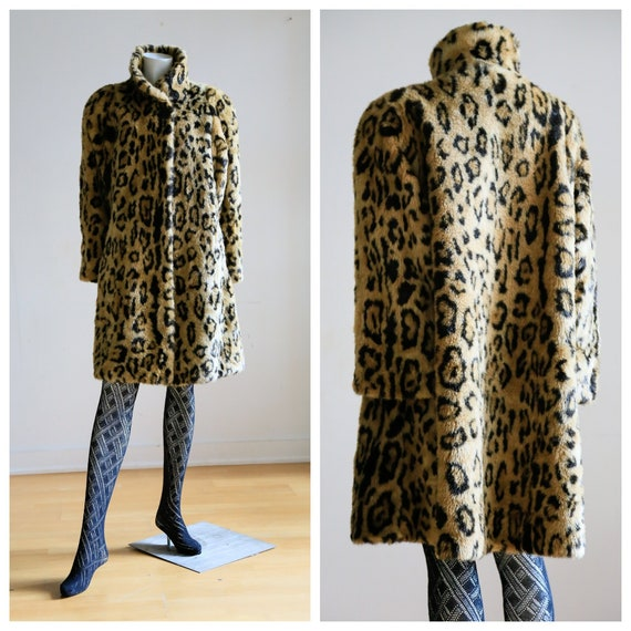 Animal Print Faux Fur Coat | Vintage Animal Print