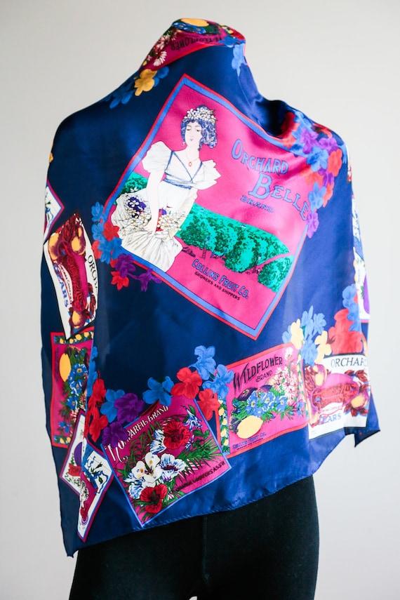 Vintage Liz Claiborne Silk Scarf | Japan Made Silk
