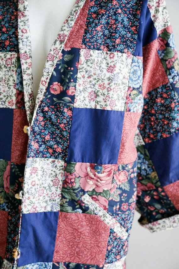 Vintage Cottagecore Patchwork Floral Oversized Re… - image 4
