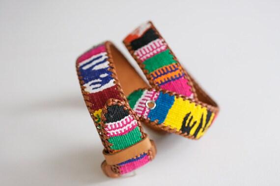 Handmade  Colourful Embroidered Boho Leather Belt… - image 7