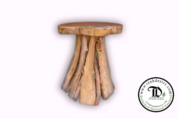 Cool Teak Root Solid Wood Side Table Accent Table End Table Tea Coffee Sofa Side Table Stool Pabps2019 Chair Design Images Pabps2019Com