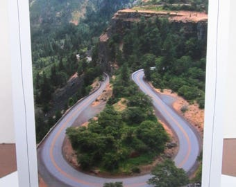 Photo Greeting Card | Handmade Card | Photo Note Card | Original Photography | Bend in Road