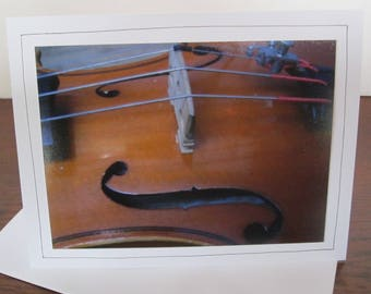 Photo Greeting Card | Handmade Card | Photo Note Card | Original Photography | Violin