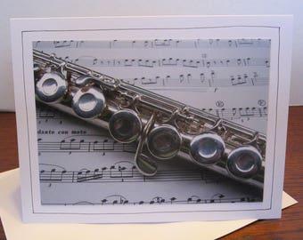 Photo Greeting Card | Handmade Card | Photo Note Card | Original Photography | Flute
