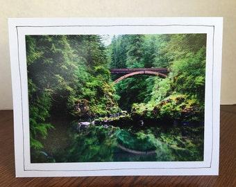 Photo Greeting Card | Handmade Card | Photo Note Card | Original Photography | Bridge Over River