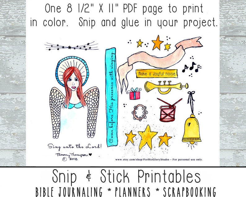 Bible journaling printable Snip & Stick Printables #2 -