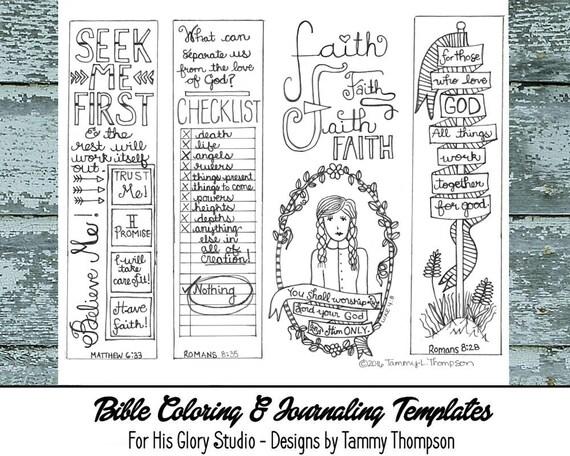 Seek Me First 13 Bible Journaling Black And White Pdf Etsy