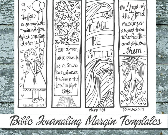 Anxiety Fear 3 Bible Journaling Black And White PDF