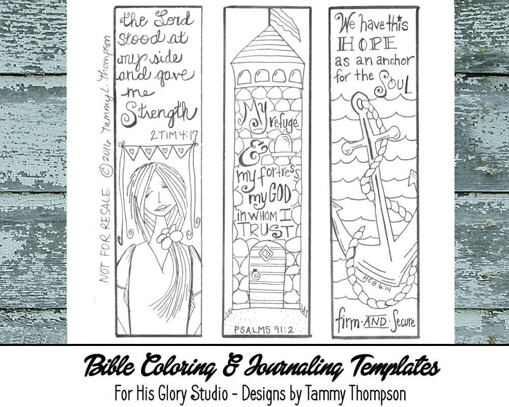 Bible Journaling Strength Hope 5 Bible Journaling Etsy