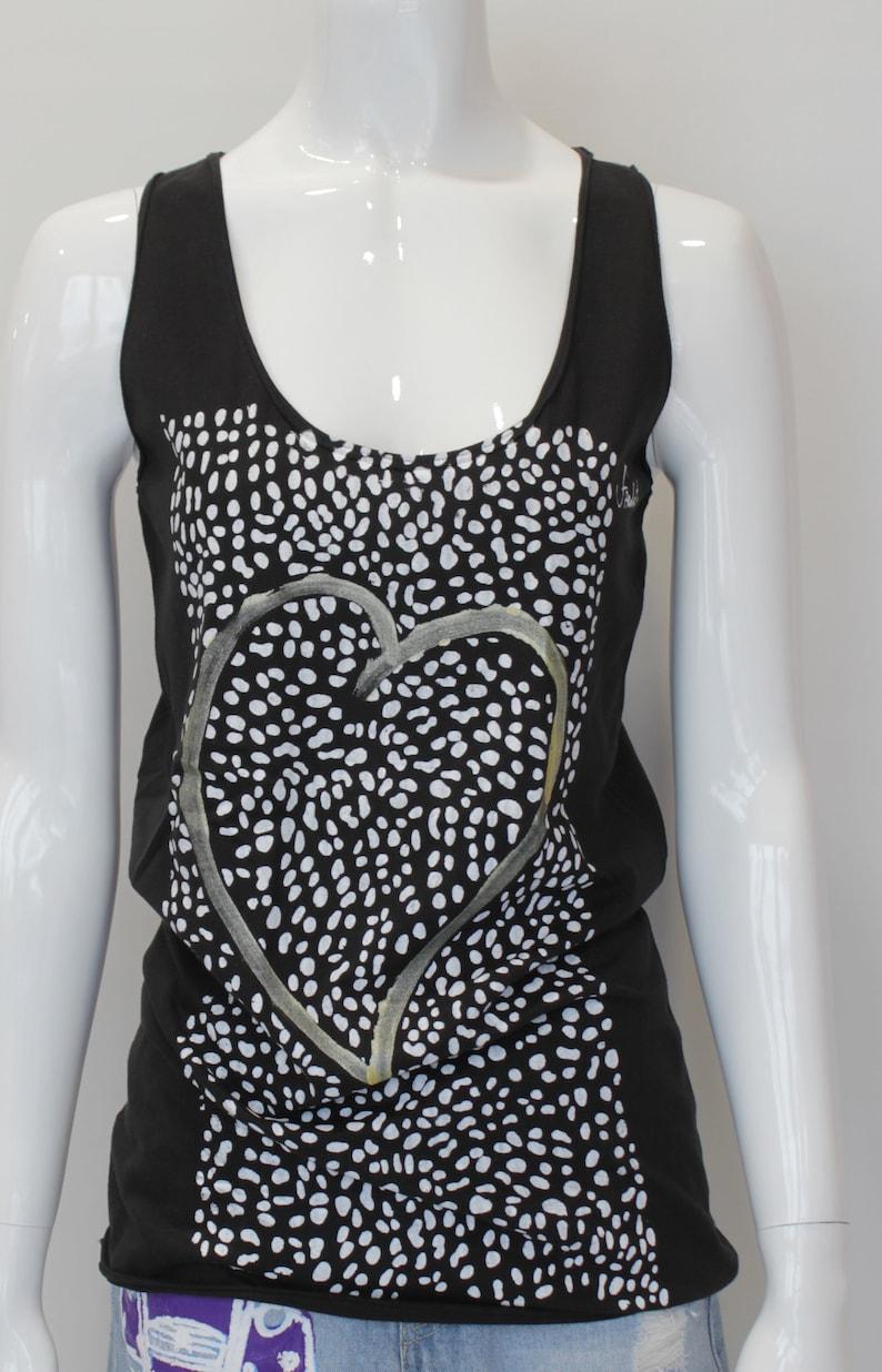 HEART16 Size S Black T-Shirt women/'s organic cotton.