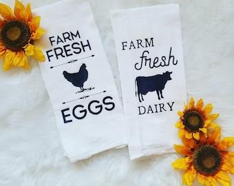 Farmhouse Kitchen Towels Set