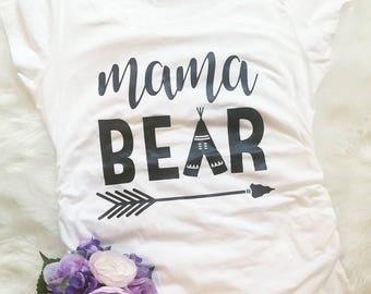 Mama Bear Maternity Shirt