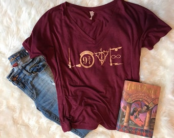 Harry Potter Love V-neck Slouchy