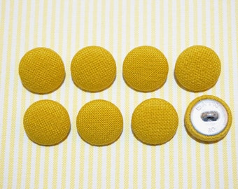 20mm 8 Cotton Solid Green Color Fabric Covered Buttons