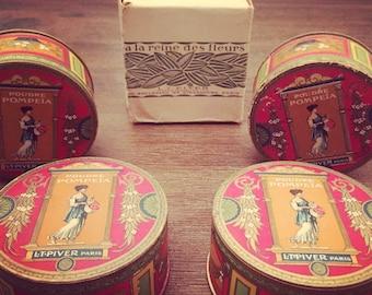 NEW - Unopen Antique box Pompeia L.T.Piver Paris vintage face powder, vanity, boudoir, birthday or wedding gift idea christmas