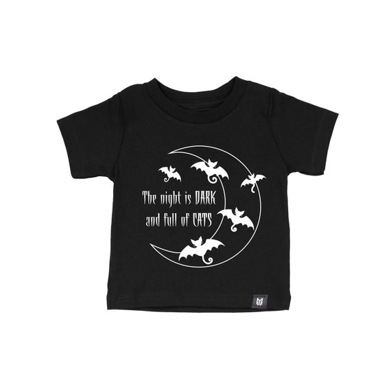 The Night is Dark and Full of Cats Unisex Shirt for Halloween- Kids and Baby