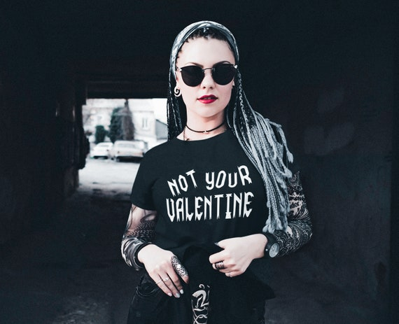 Adult Not Your Valentine Graphic T-shirt - Unisex