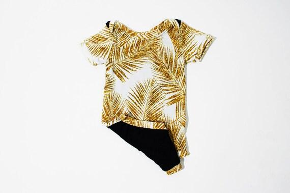 Gold Glitter Palm Unisex Onesie