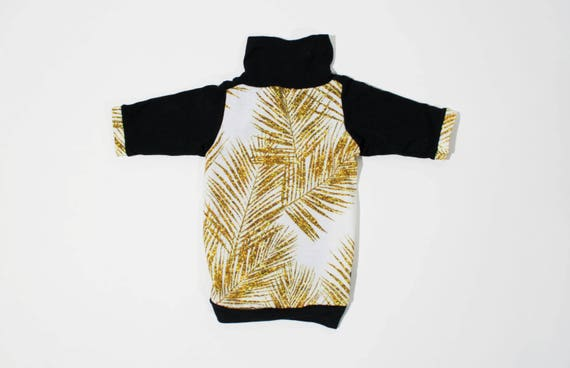 Gold Glitter Palm Pet Shirt Organic Cotton