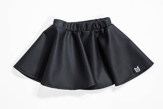 Black Vinyl Baby Circle Skirt