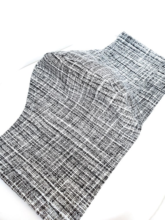 Fashionable, Washable Fitted Face Mask With Filter Pocket and Nose Wire- Grey Check