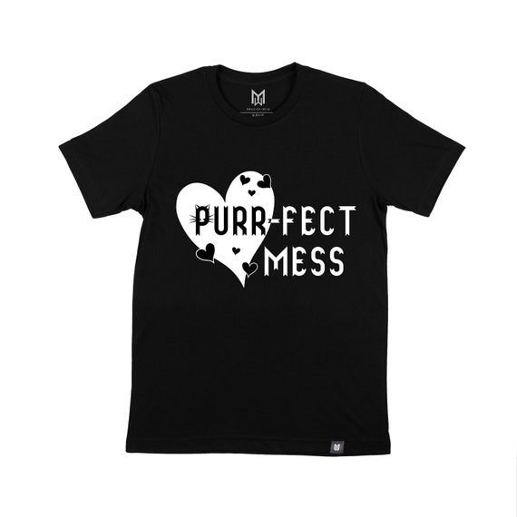 Purrfect Mess Kids Graphic T-shirt