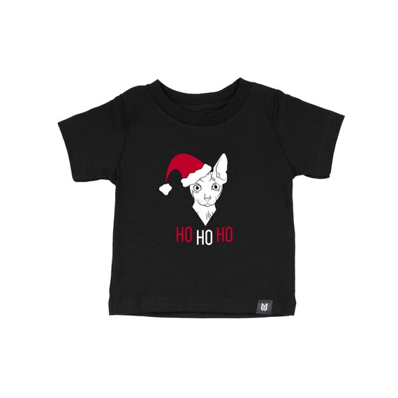 Santa Sphynx Graphic Tee- Kids and Baby