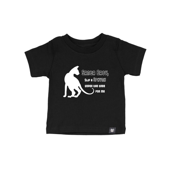 Santa Baby Sphynx Graphic Tee- Kids and Baby
