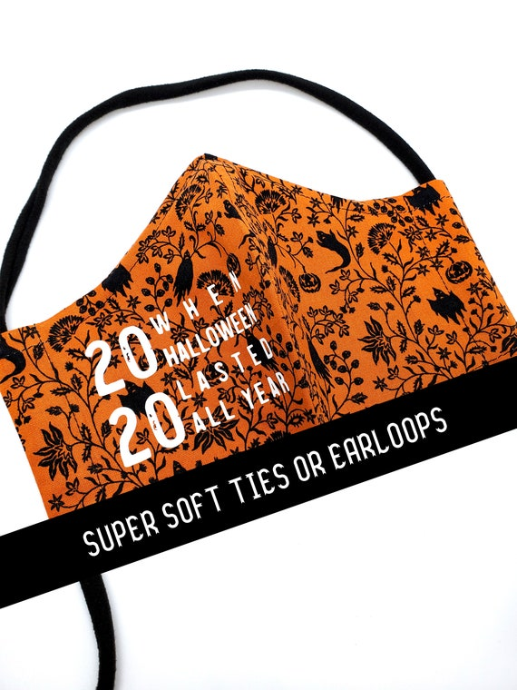 Washable Cotton Fitted Face Mask With Filter Pocket and Nose Wire- 2020 Halloween